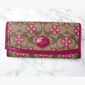 Coach Signature Floral Wallet